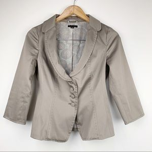 Sisley Women's Tailored Fit Stitched Jacket 40